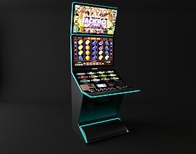 coins casino slot machine 3D model