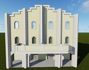 Arenal Movie Theatre Havana Cuba 3D asset