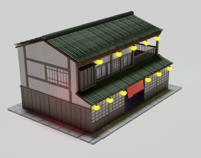 Japanese house 3D asset game-ready