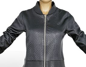 3D model Jacket Black Decorated Women Clothing Fashion