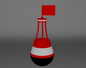 Low-poly Buoy 3D model