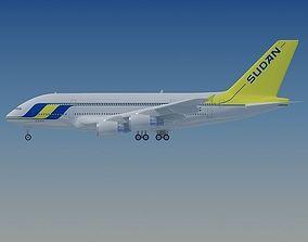 3D Sudan Airways Airbus A380