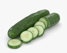 3D vegetable Cucumber