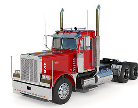 trailer Peterbilt 379 with interior hquality 3D model
