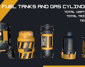 Sci-fi Cylinders 3D model