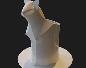Cat pencil cup 3D printable model holder