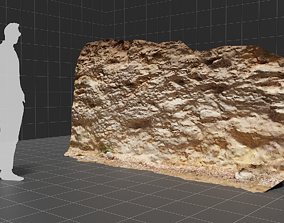 game-ready 3d scanned cliff 004