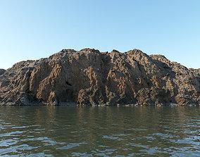3D asset Coastal rocky cliff