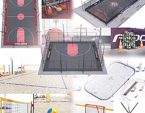 Sports playgrounds 3D