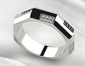 Mens Fashion Gold Ring 3D print model