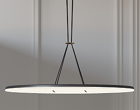 3D model Exclusive Button 90 LED Pendant Light By Lukas