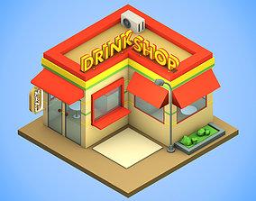 Isometry Drink Shop 3D asset