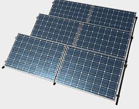 Low Poly PBR Solar Panels 3D model