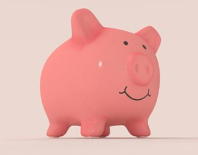 3D model game-ready Piggy Bank