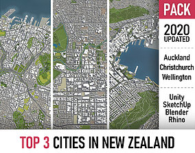 TOP 3 New Zealand Cities MEGAPACK 3D