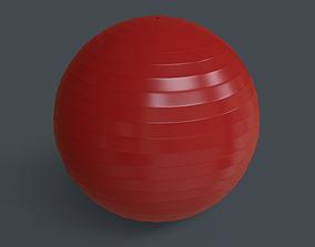 3D asset PBR Yoga Ball - Red