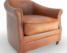 3D model Vintage Leather Armchair