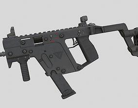 Kriss vector 3D model game-ready PBR