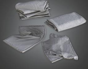 3D asset HSG - Towel Stack - PBR Game Ready