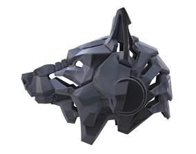 Wolf helmet 3D printable model