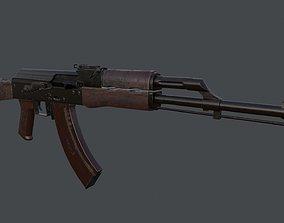 AK Rifle 3D model VR / AR ready