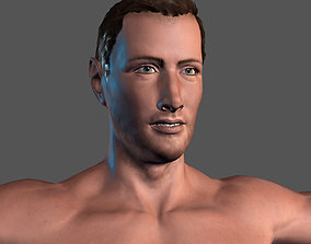 Animated Naked Man-Rigged 3d game character animated
