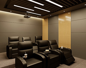 Cinema Room Home Theater 3D