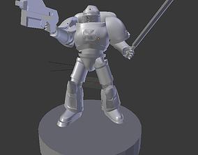Galactic Crusader Paladin 3D Print
