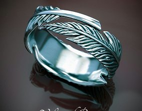 Ring feather 3D printable model ring