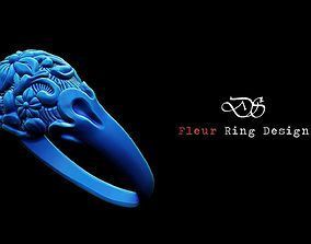 3D printable model Fleur Dome Zbrush ring