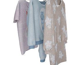 clothes 3 items 3D model