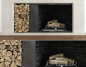 Fireplace minimalism 3D