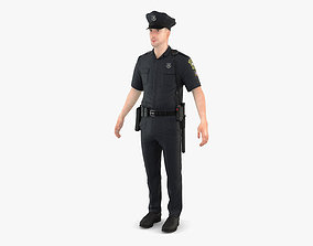 Police Officer textures 3D model