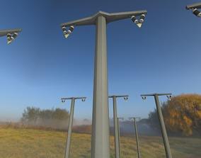 3D asset Concrete Pole without Ladder - Object 059