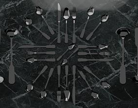 Modern simple cutlery set 3D asset realtime
