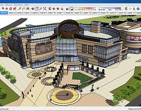 3D model Sketchup Commercial and office complex A4