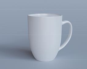 White porcelain mug 3D household