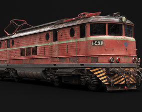 3D old locomotive train