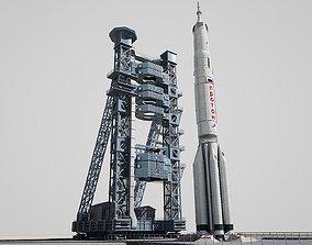 Proton Rocket launch pad 3D