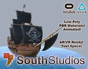 Animated Pirate Ship AR VR Unity 3dsmax animated