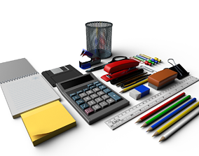 3D model Basic Stationary Pack