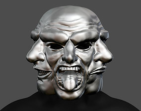 Payday 2 Horror Mask Greek Tragedy 3D printable model 4