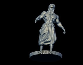 3D printable model sculpture Poseidon