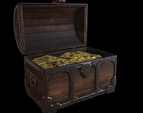 3D asset Medieval Chest Lowpoly