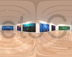 3D asset HDRI - Art Museum Gallery Interior 1c