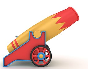 3D model Circus Cannon