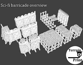 Sci-fi barricade 3D printable model