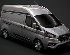 3D Ford Transit Custom L2H2 2020
