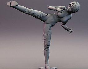 3D print model Sexy Anime Ninja throwing Shurikens