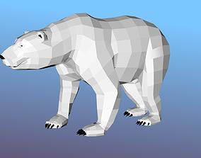 animated White bear Low Polygon Animal Arctic sea ocean 2